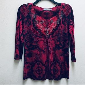UNITY WORLD WEAR Small PS Blouse NWOT Never Worn